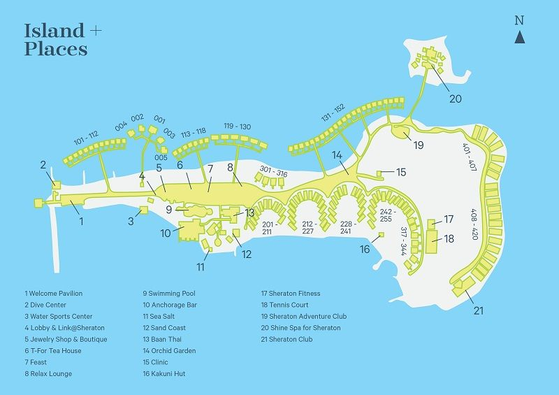 Resort Map Local Area Map Sheraton Maldives Resort